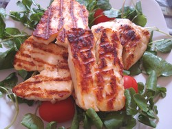 cyprus food ~ Halloumi salad